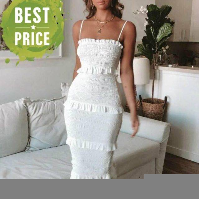 Summer Fashion Sling Long Dress Women 2020 Casual Party Dress Female Ruffles Vestidos Plus Size Natural Solid Dress Apparel Best Sellers Women Clothing & Erotic Lingerie  https://gotoptrend.com/summer-fashion-sling-long-dress-women-2020-casual-party-dress-female-ruffles-vestidos-plus-size-natural-solid-dress/ https://gotoptrend.com Go Top Trend
